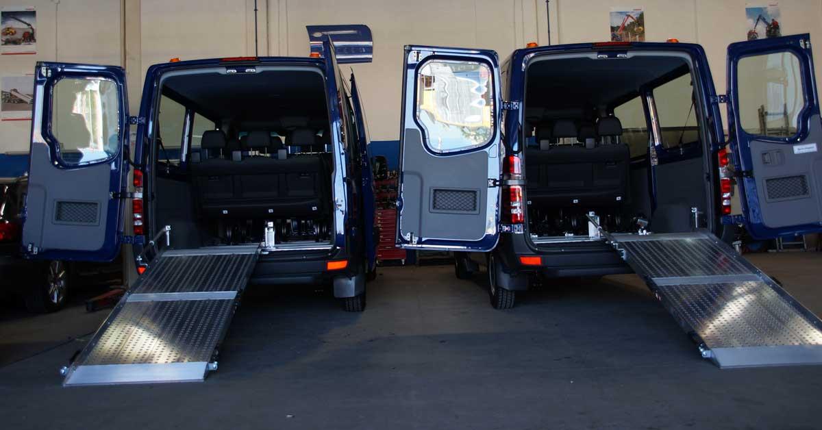 Umbau PKW, Transporter, Rollstuhlrampe